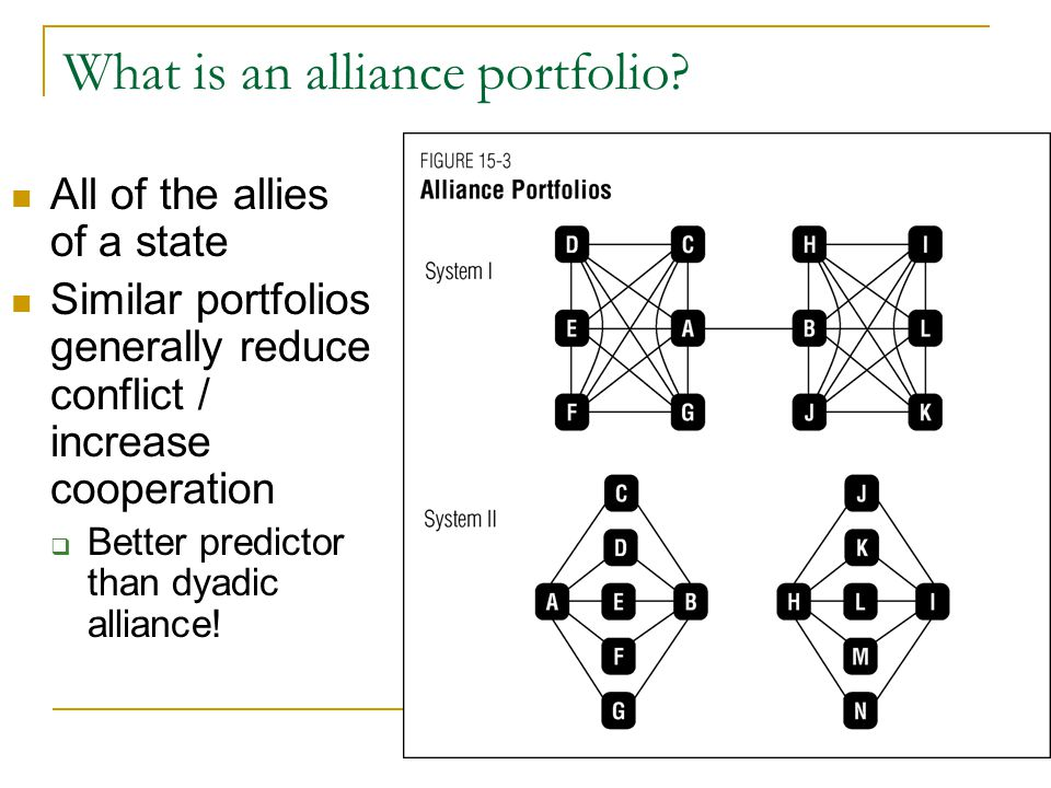 What is an alliance portfolio