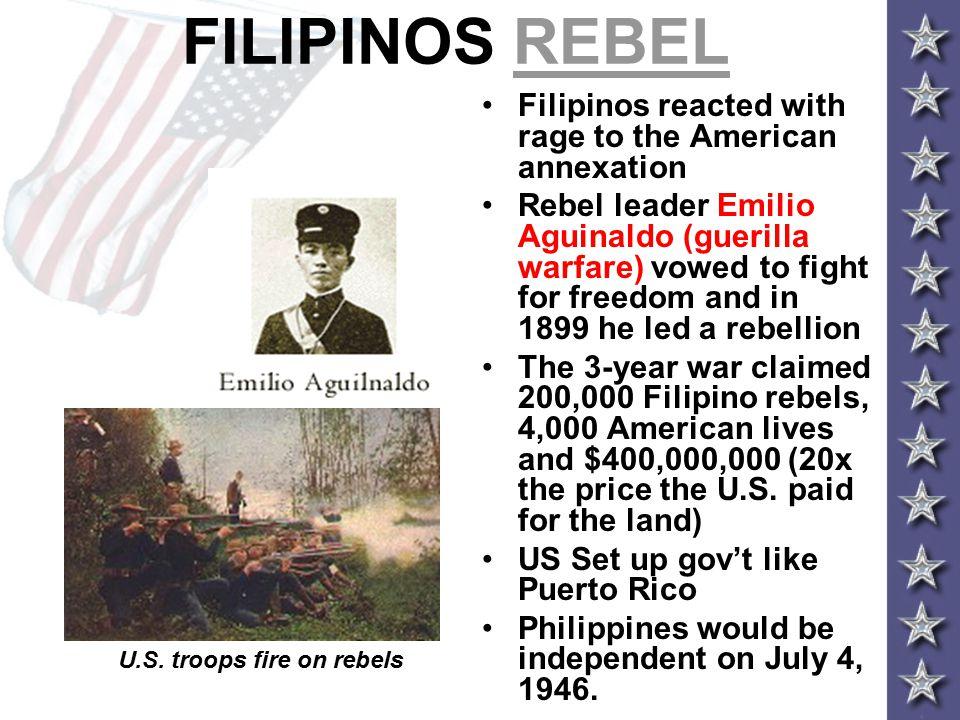 U.S. troops fire on rebels