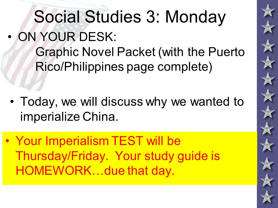 Social Studies 3: Monday