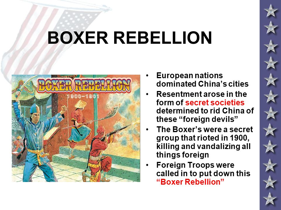 BOXER REBELLION European nations dominated China's cities