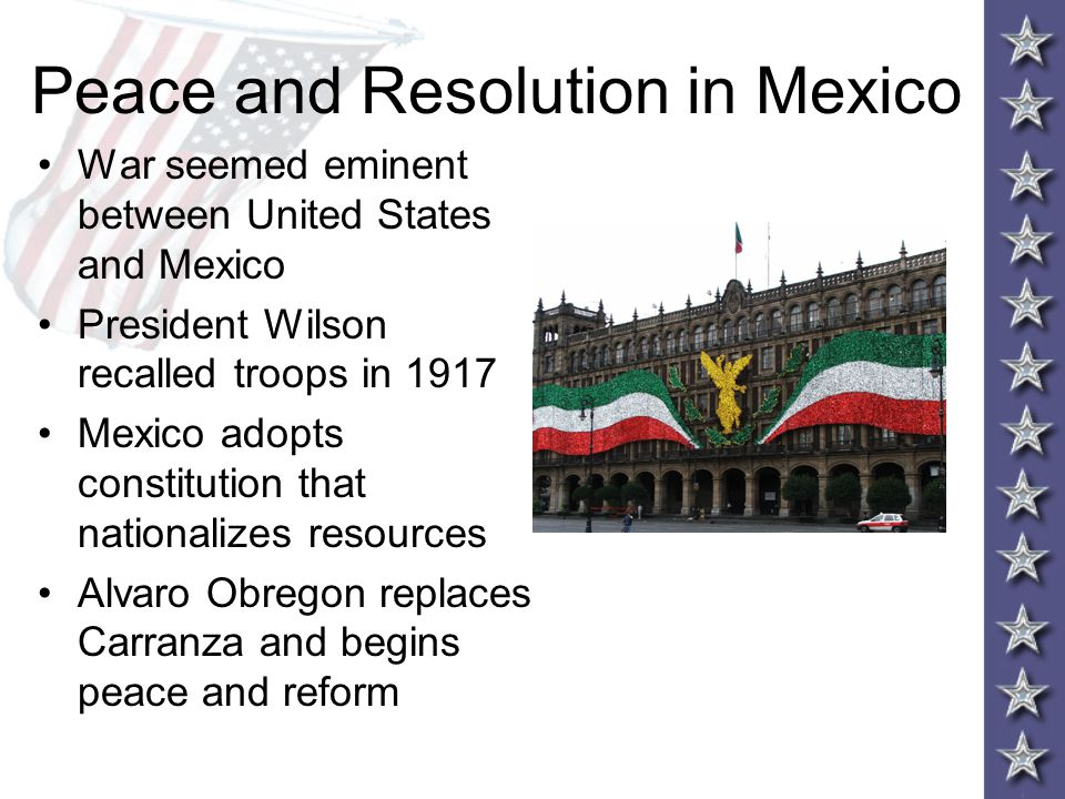 Peace and Resolution in Mexico
