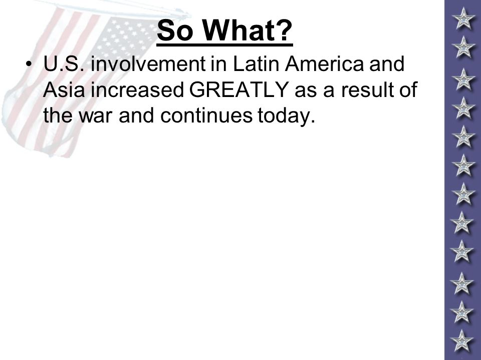 So What. U.S.