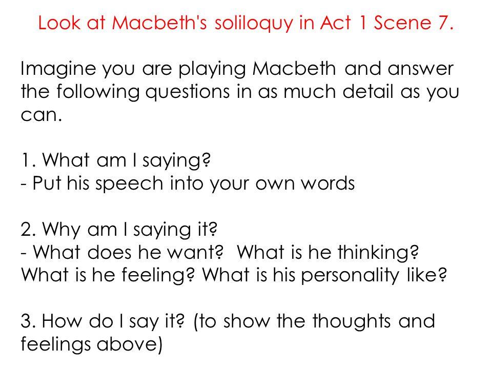 how is macbeth presented in act 1 scene 7
