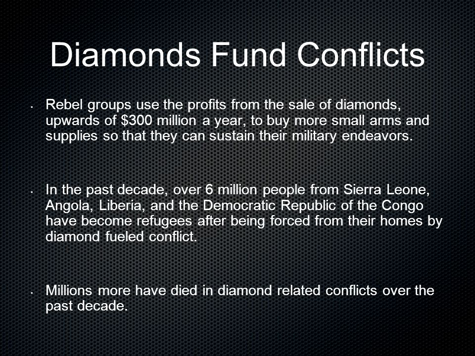 Diamonds Fund Conflicts