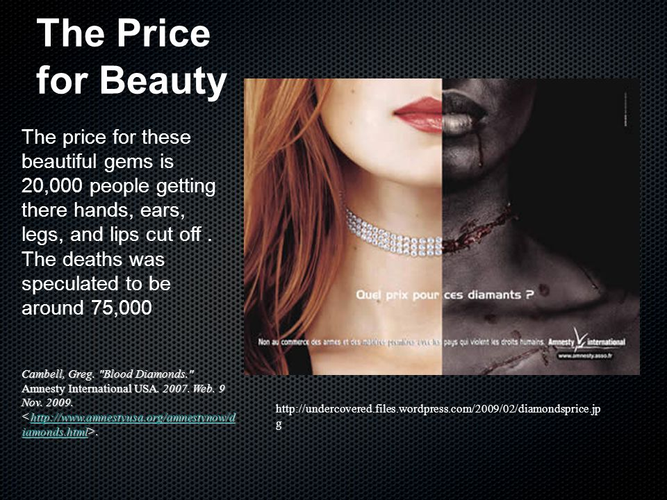The Price for Beauty