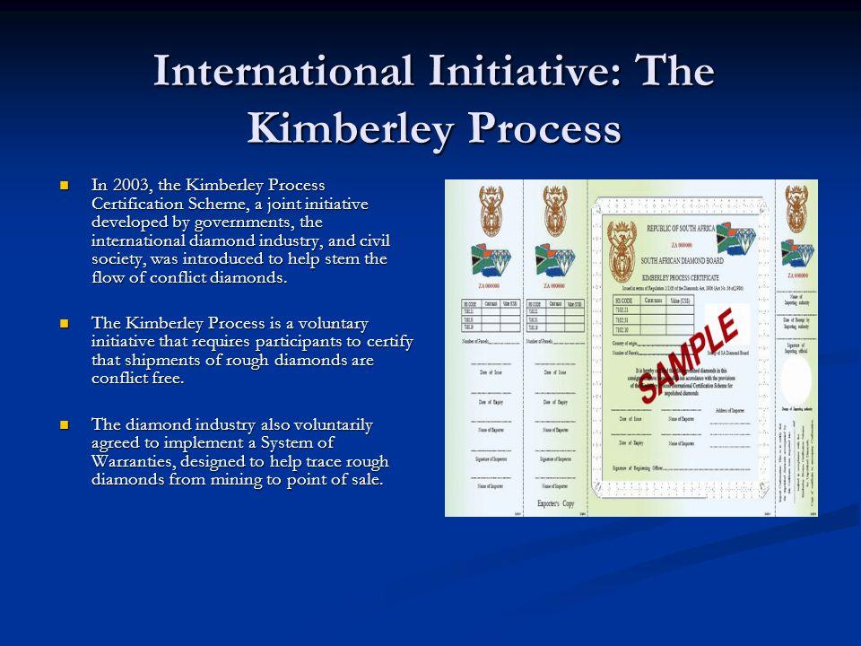 International Initiative: The Kimberley Process