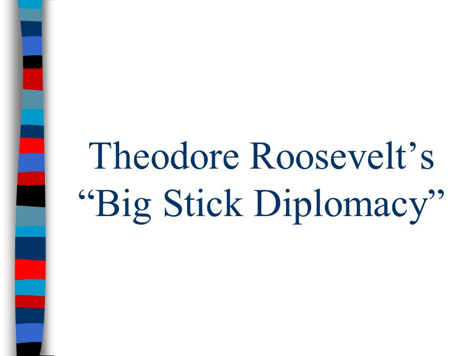 Theodore Roosevelt's Big Stick Diplomacy
