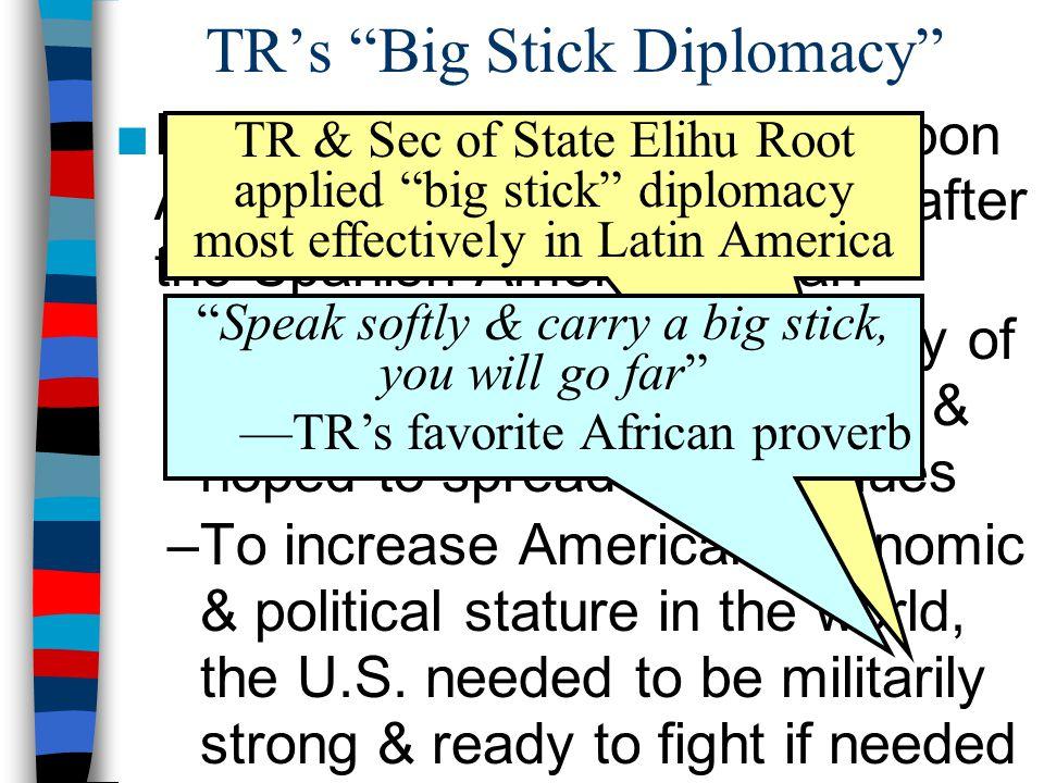 TR's Big Stick Diplomacy
