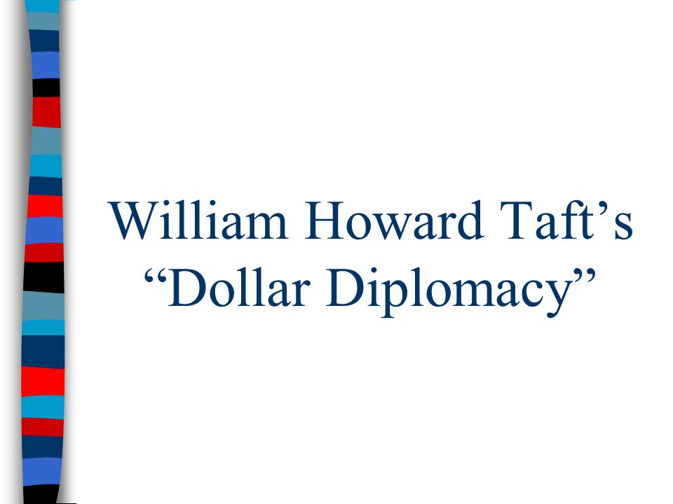 William Howard Taft's Dollar Diplomacy