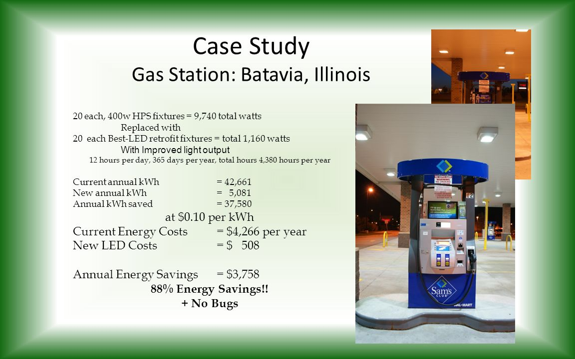 Case Study Gas Station: Batavia, Illinois