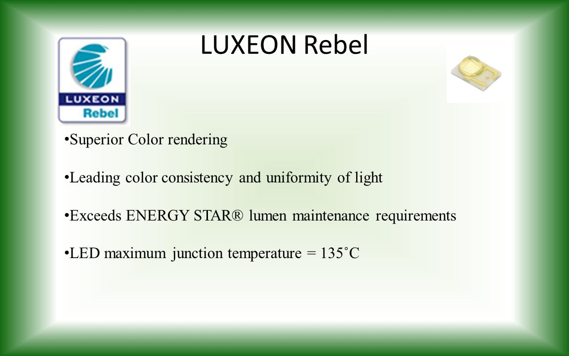LUXEON Rebel Superior Color rendering