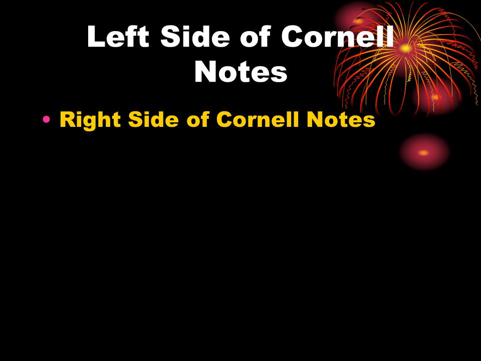 Left Side of Cornell Notes