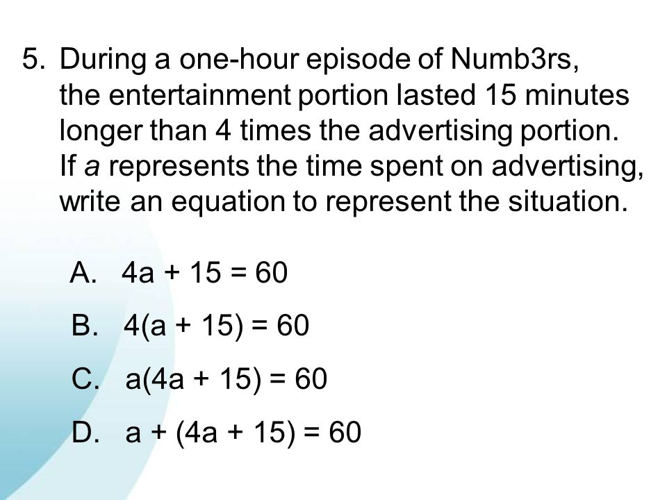 During a one-hour episode of Numb3rs,