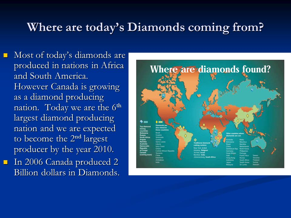 Where are today's Diamonds coming from