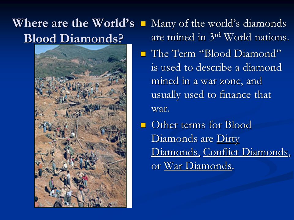 Where are the World's Blood Diamonds