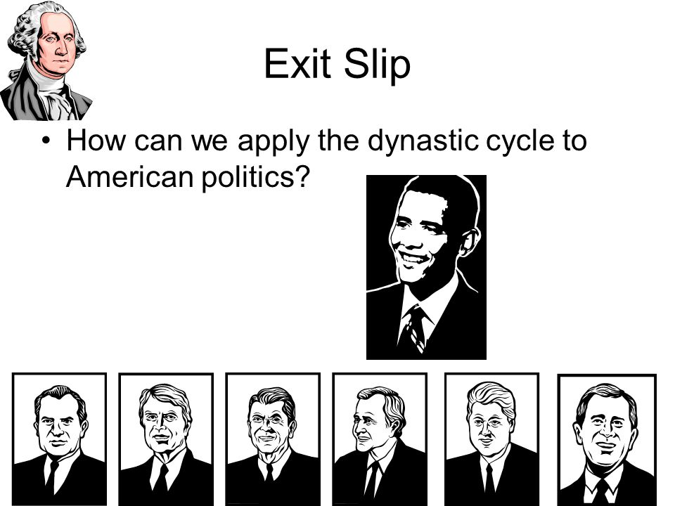Exit Slip How can we apply the dynastic cycle to American politics