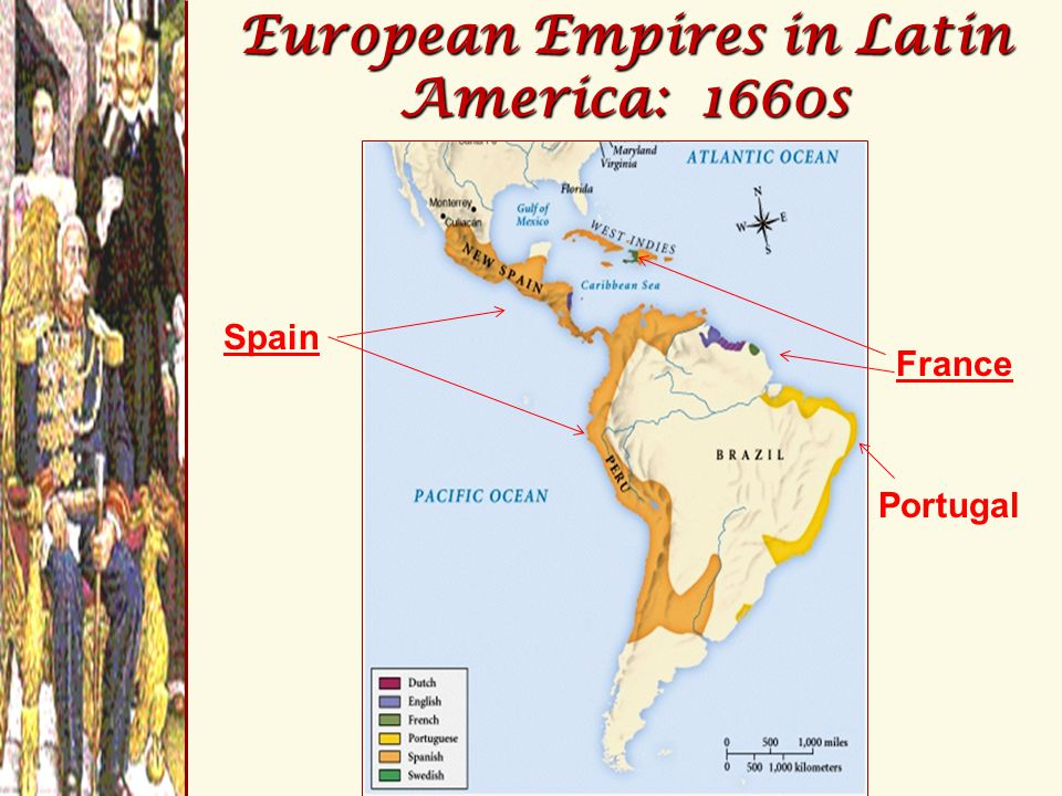 European Empires in Latin America: 1660s