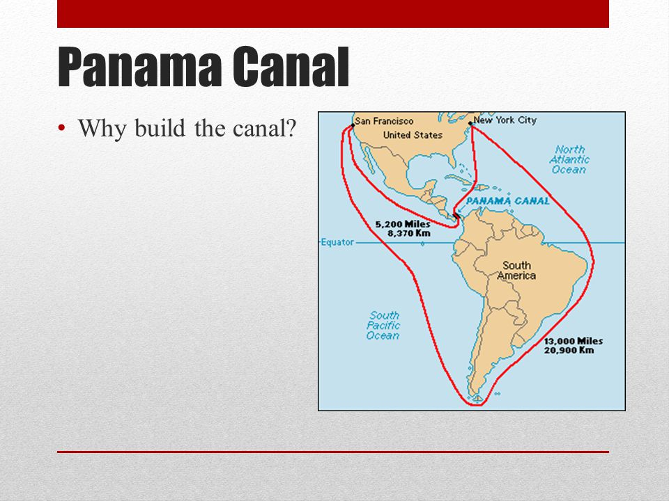 Panama Canal Why build the canal