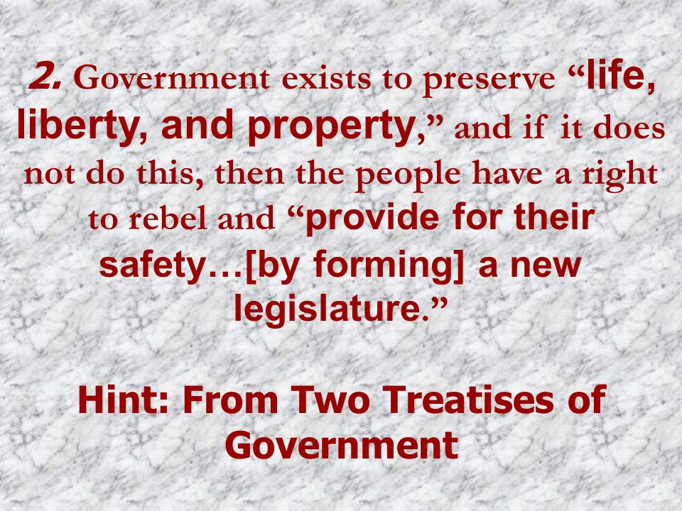 Hint: From Two Treatises of Government