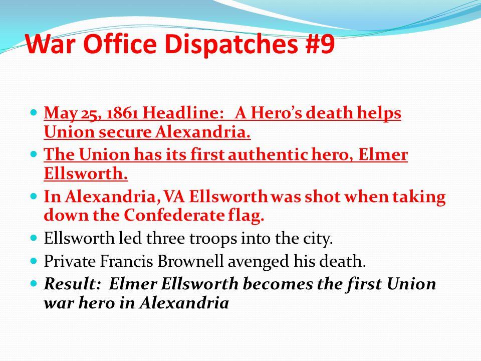 War Office Dispatches #9