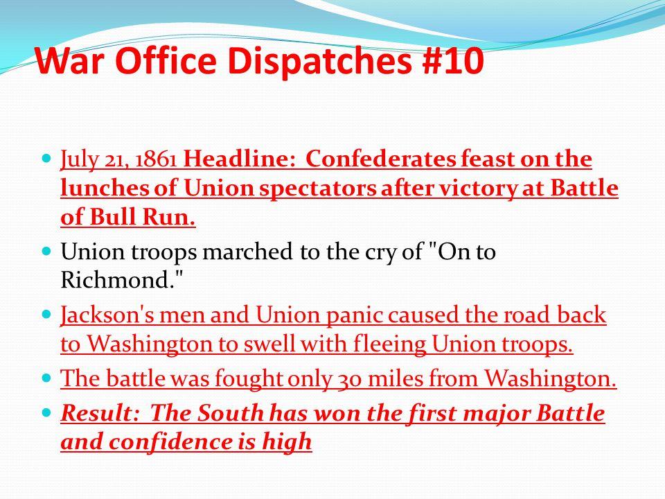 War Office Dispatches #10