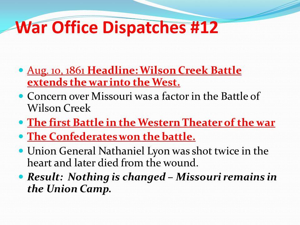 War Office Dispatches #12