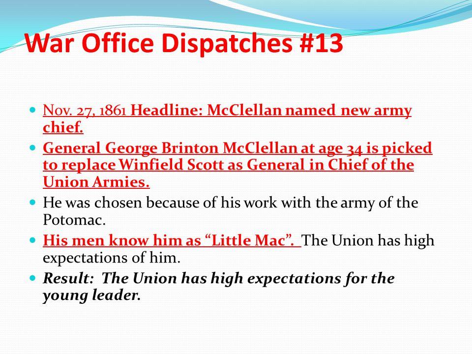 War Office Dispatches #13