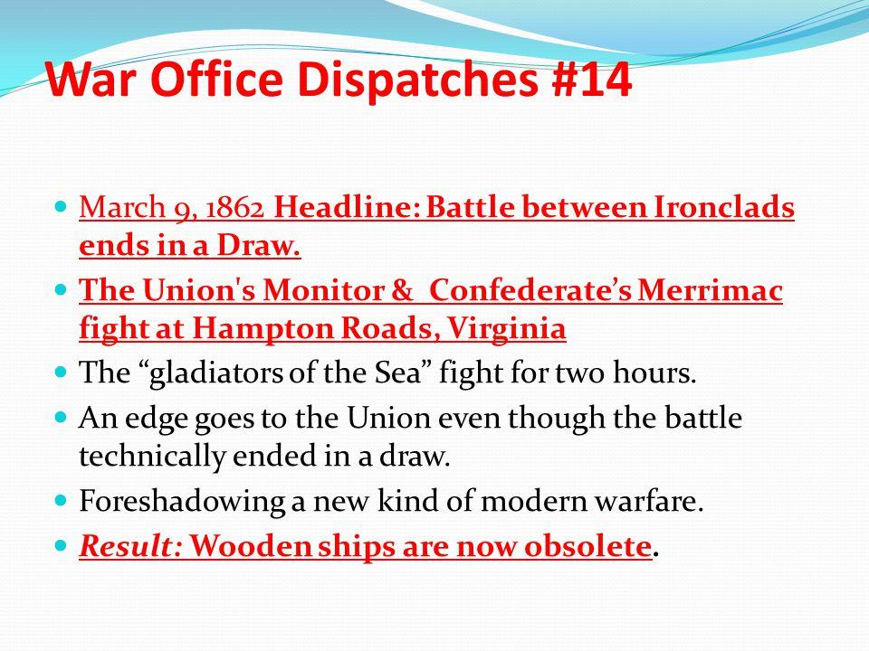War Office Dispatches #14