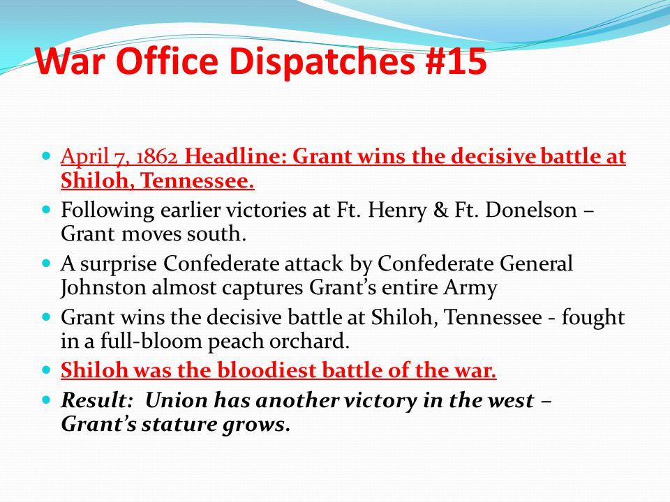 War Office Dispatches #15