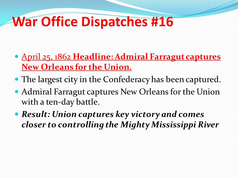 War Office Dispatches #16