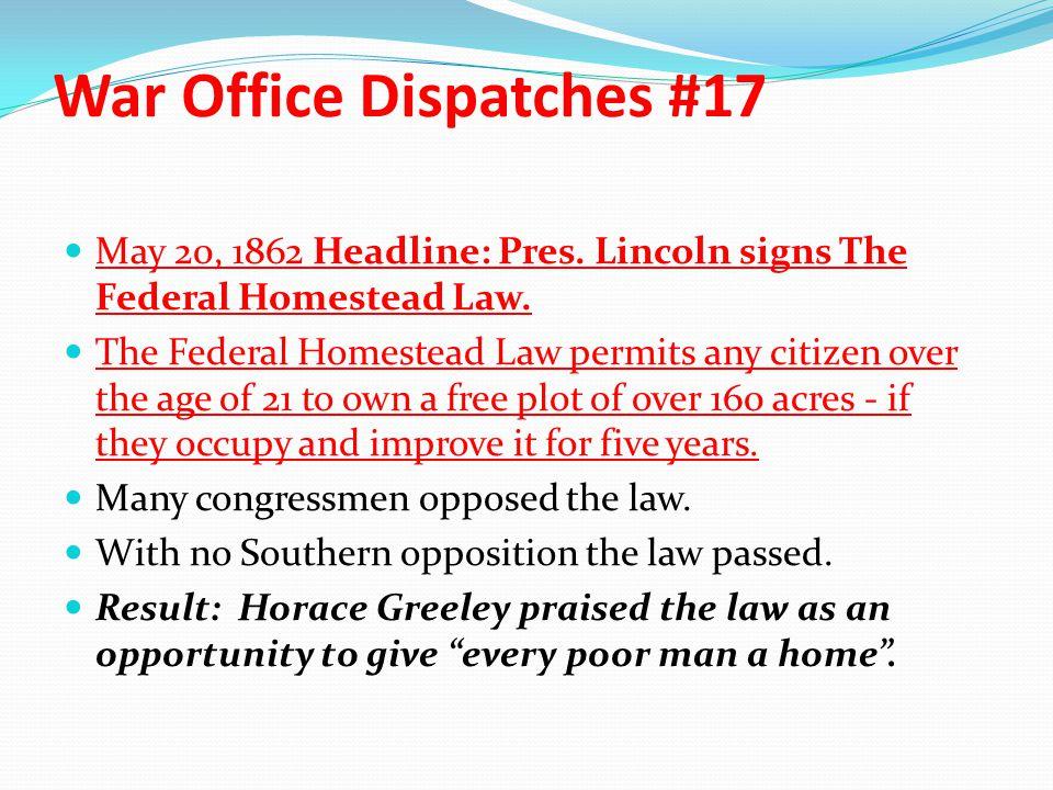War Office Dispatches #17