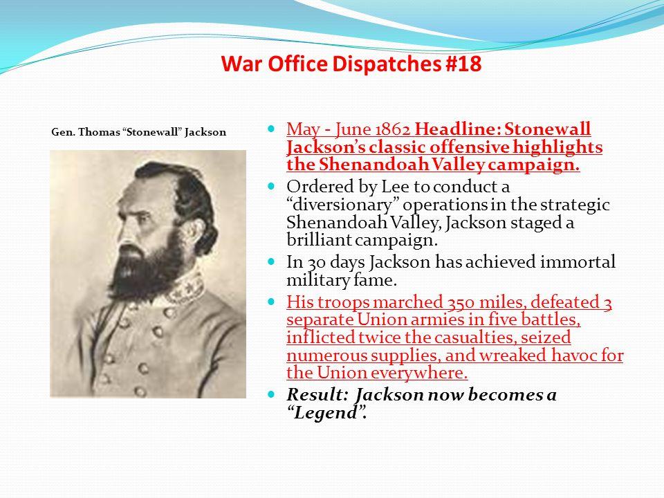 War Office Dispatches #18
