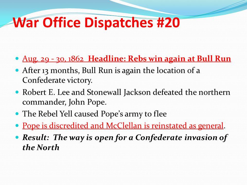 War Office Dispatches #20