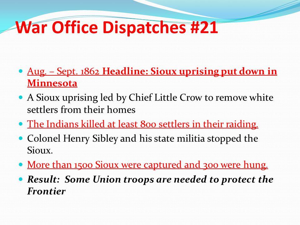 War Office Dispatches #21