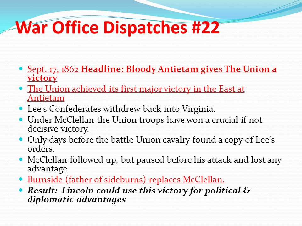 War Office Dispatches #22