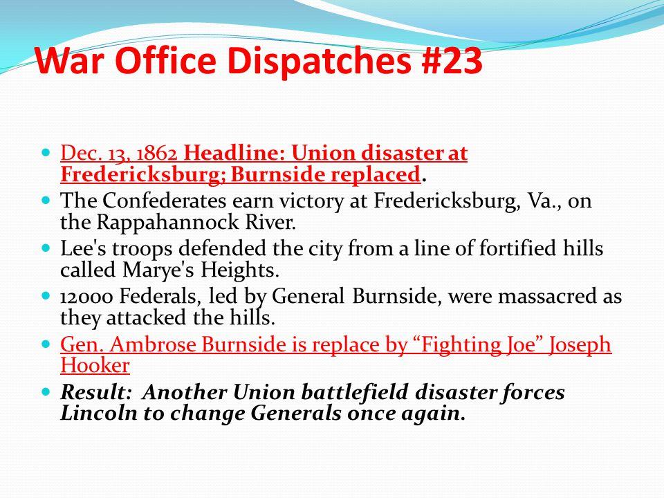 War Office Dispatches #23