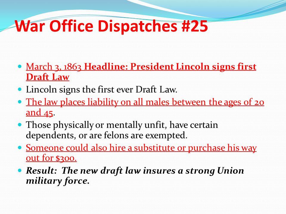 War Office Dispatches #25