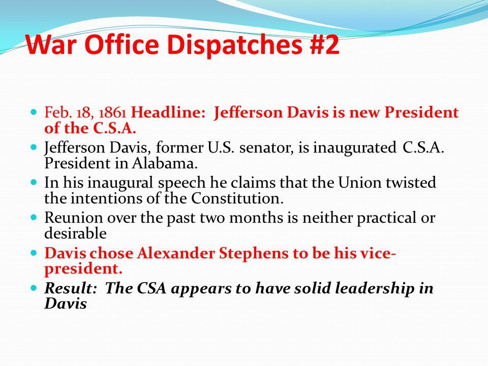 War Office Dispatches #2