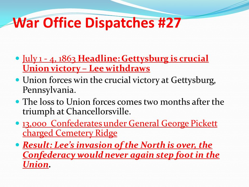 War Office Dispatches #27