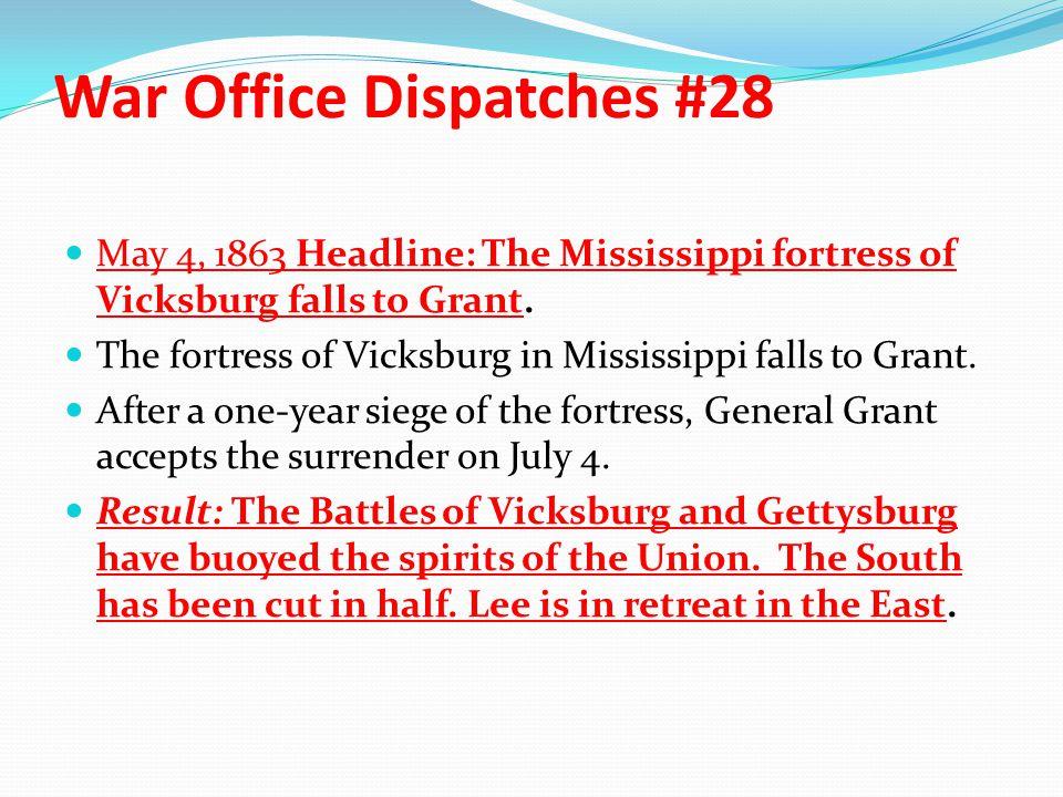 War Office Dispatches #28