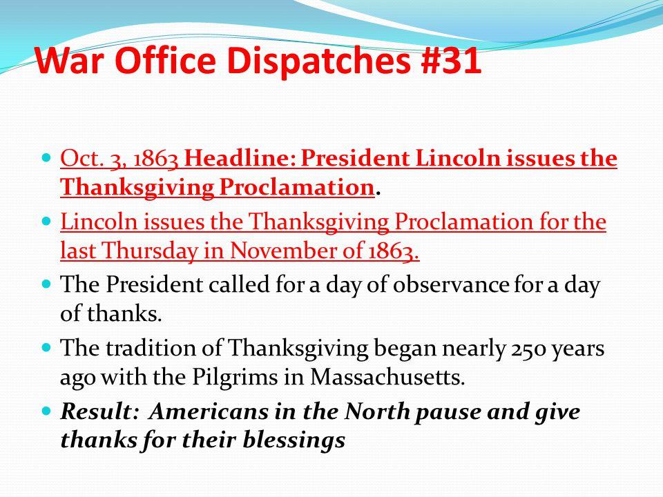 War Office Dispatches #31