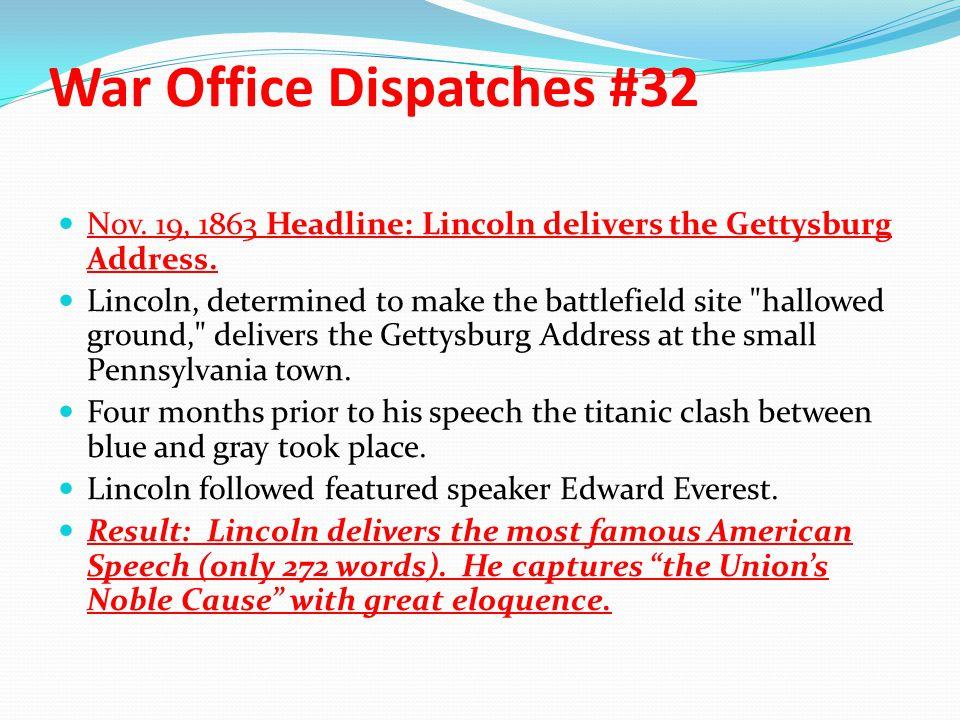 War Office Dispatches #32