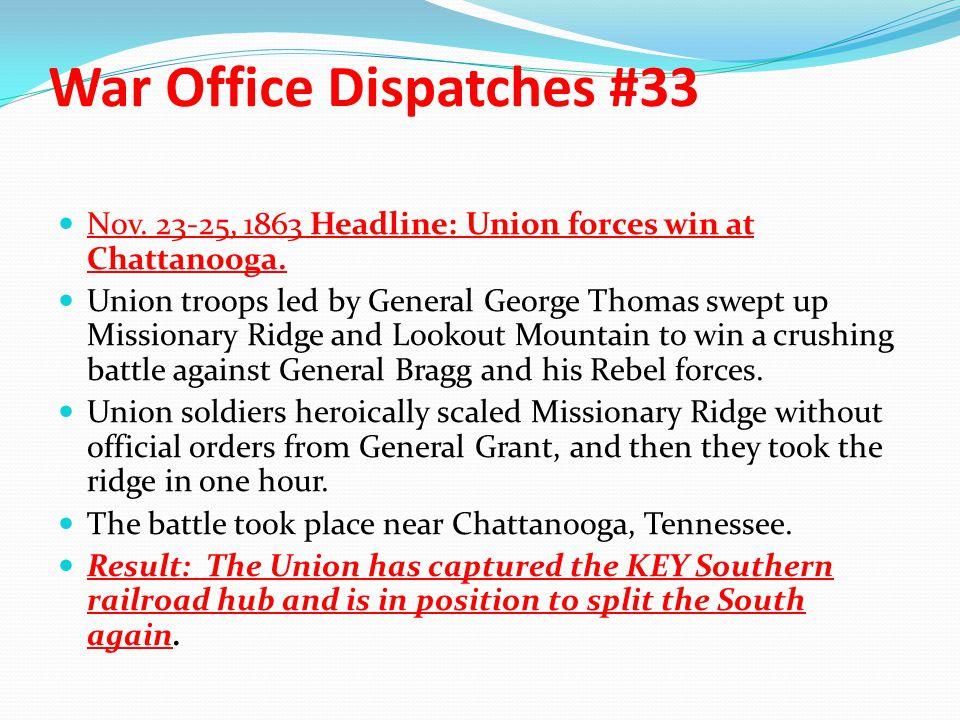War Office Dispatches #33