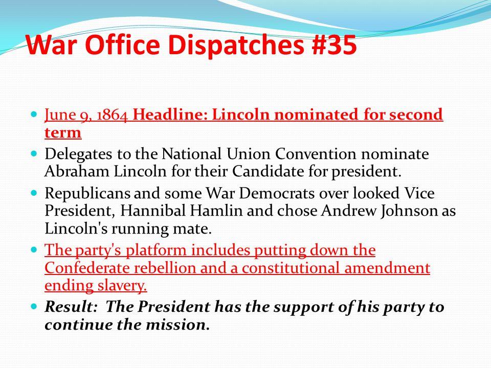 War Office Dispatches #35