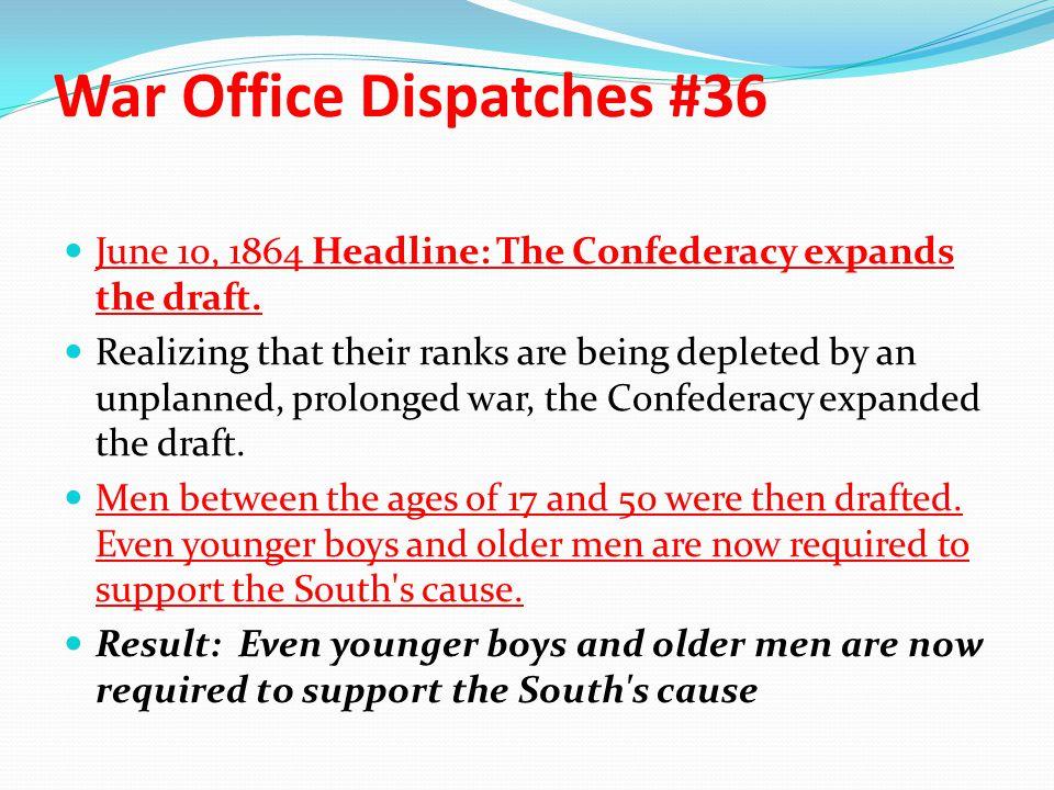 War Office Dispatches #36