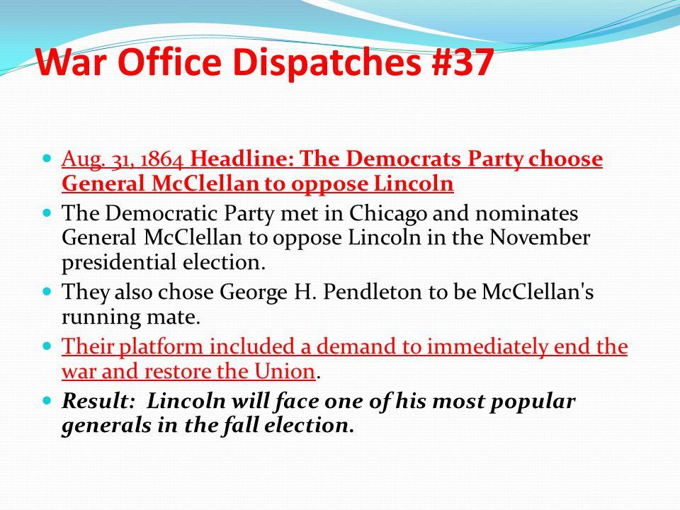 War Office Dispatches #37