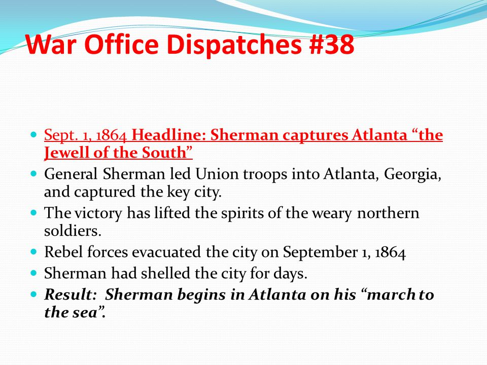 War Office Dispatches #38