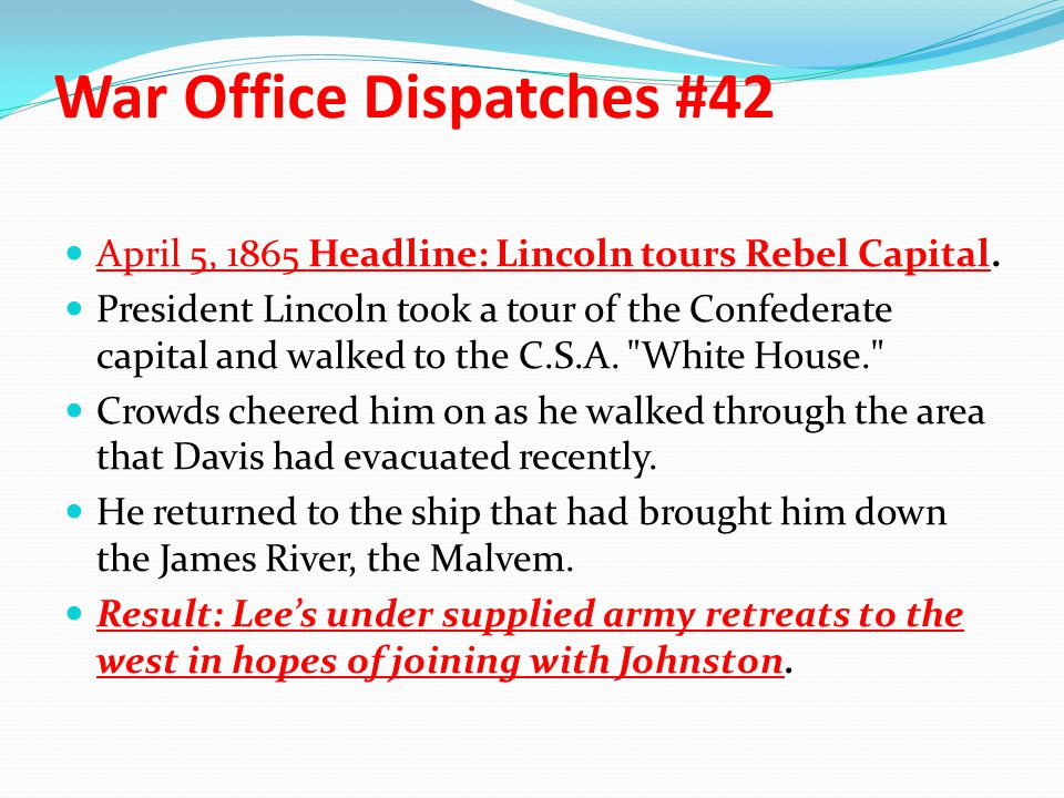 War Office Dispatches #42