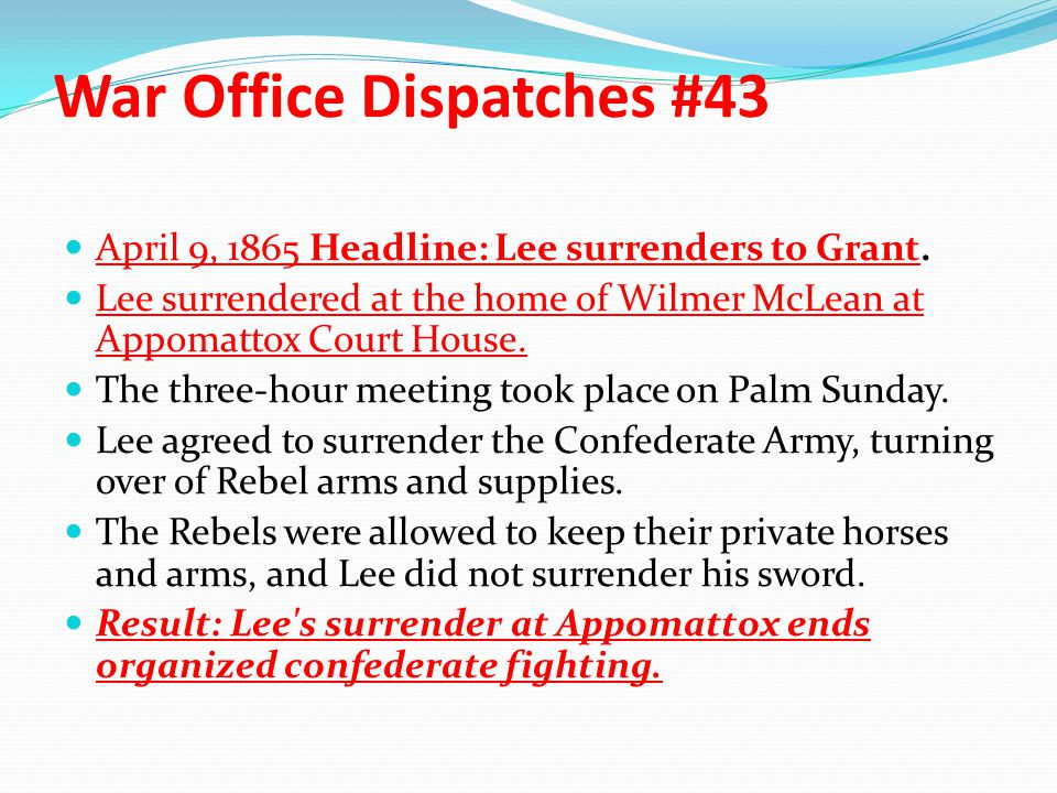 War Office Dispatches #43