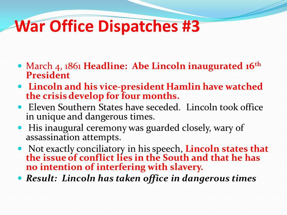 War Office Dispatches #3